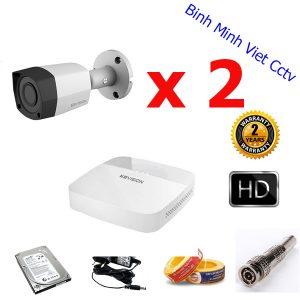 bộ 2 camera kbvision 1m ngoài trời